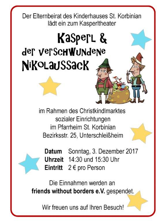 Kasperltheater Dez.2017 Plakat