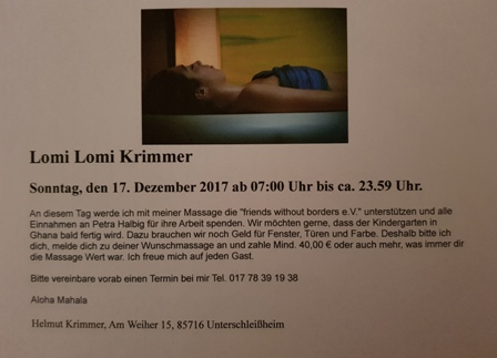 Massage Helmut Krimmer 17.12.2017