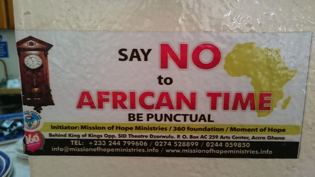 SayNotoafricantime